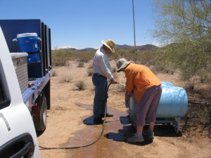 Taking water to the desert for Humane Borders